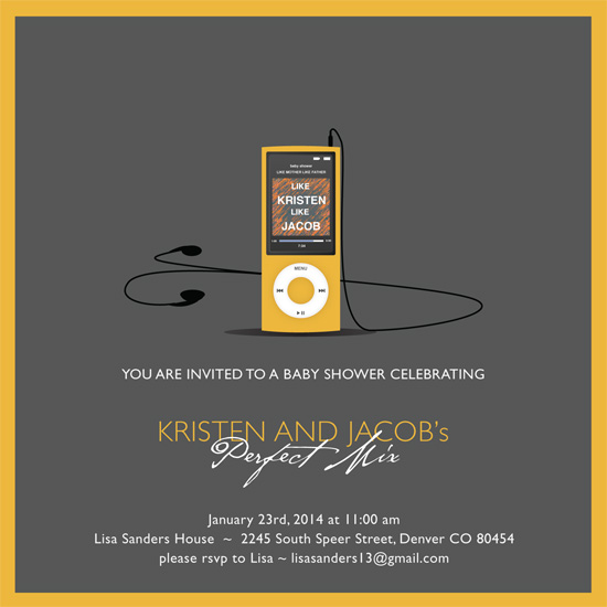 baby shower invitations - Perfect Mix by Jenifer Martino