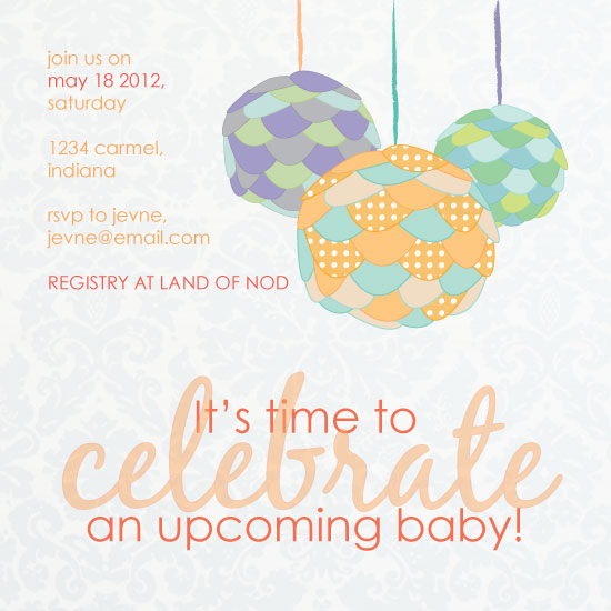 baby shower invitations - Celebration Shower by Amy Weir