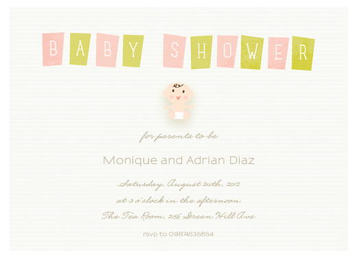 baby shower invitations - Oh so lovely by Giselle Zimmerman