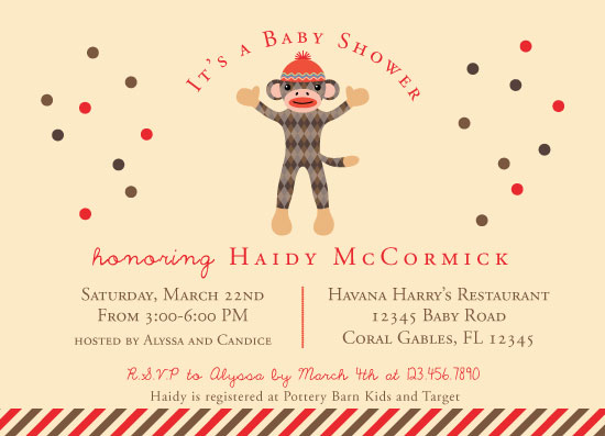 baby shower invitations - Monkey Around by Marlene Leibowitz