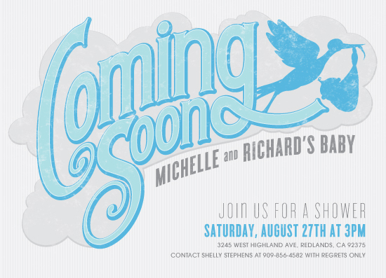 baby shower invitations - Coming Soon by GeekInk Design
