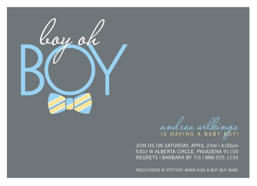 baby shower invitations - Bow Tie Boy Oh Boy by Beth Schneider