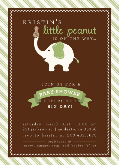 baby shower invitations - Little Peanut by Kim Nelson