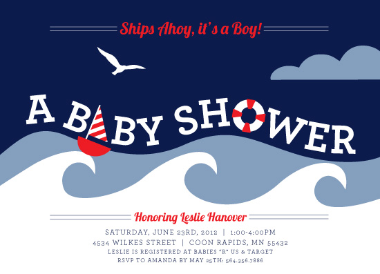 baby shower invitations - Nautical Shower by Kim Nelson