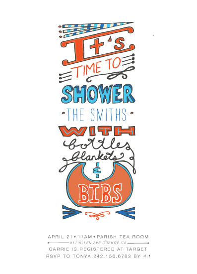 baby shower invitations - Bottle Blankets & Bibs by Shiny Penny Studio