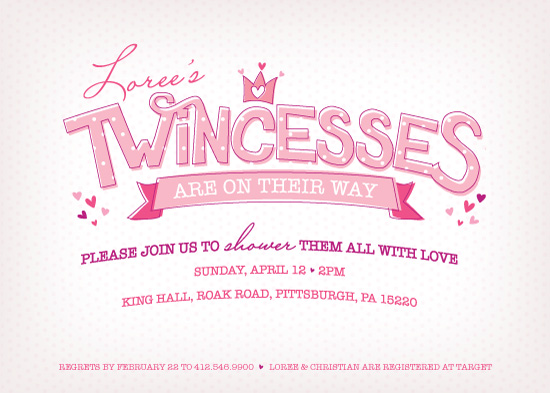 baby shower invitations - Twincess Shower by Loree Mayer