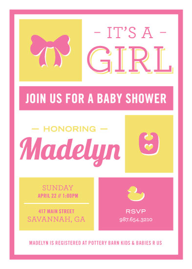 baby shower invitations - Baby Boxes by Robyn Cooperstein