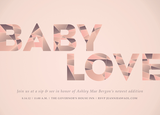 baby shower invitations - Baby Love by Jessica Booth