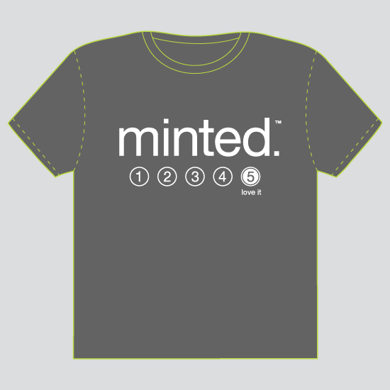 minted t-shirt design - It's a Five by feb10 design