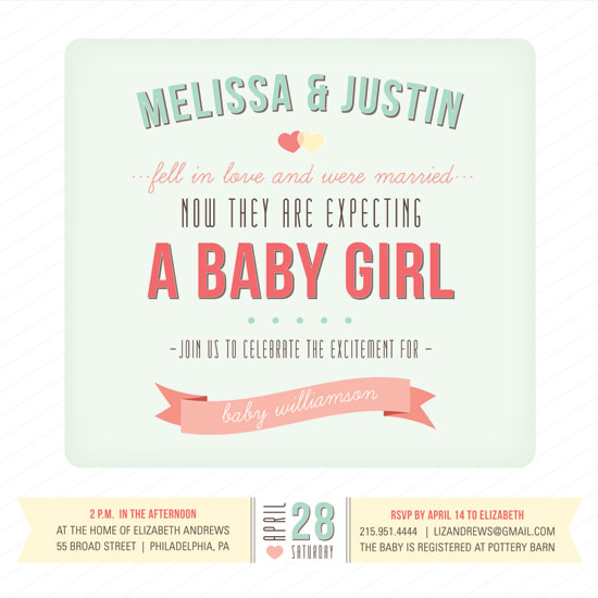 baby shower invitations - Love Story by Meghan Johnson