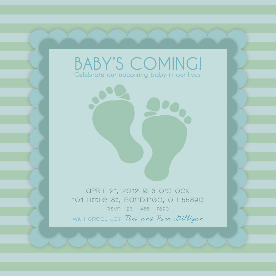 baby shower invitations - Wittle Cute Feet by Omar