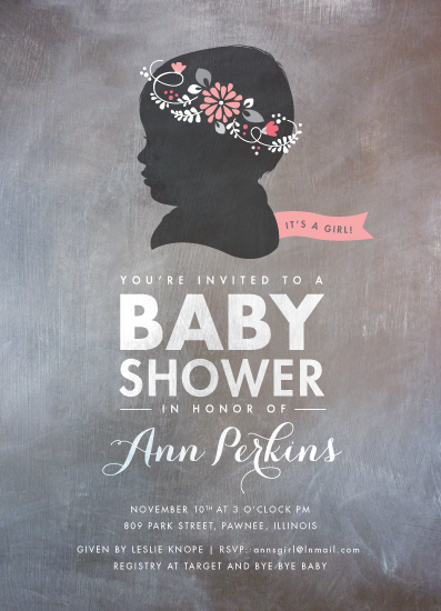 baby shower invitations - Cameo: Fleur by Susie Allen