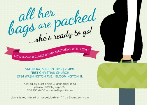 baby shower invitations - Bring on Baby by Design House