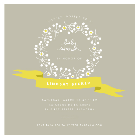 baby shower invitations - full of joy by trbdesign