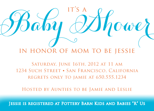 Baby Shower Invitations   Simple Theme Baby Shower Invite By Stella Bella  Invites