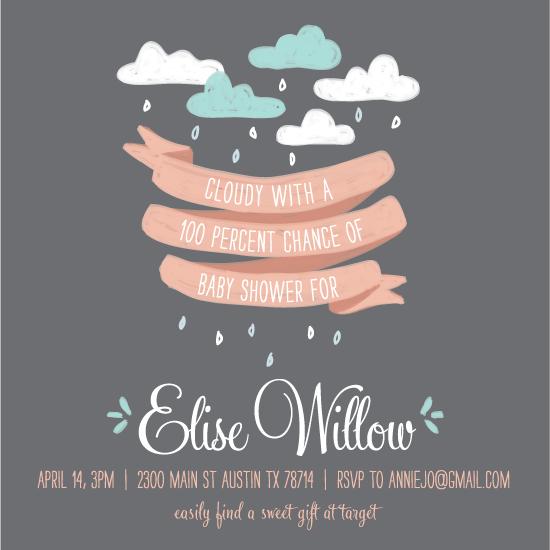 baby shower invitations - Ribbon and Rain by feb10 design