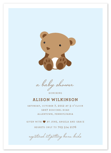 baby shower invitations - Bear Minimum by That Girl Press