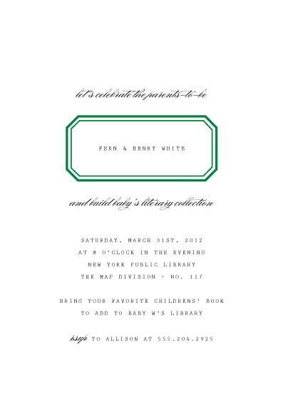 baby shower invitations - Ex Libris by toast & laurel