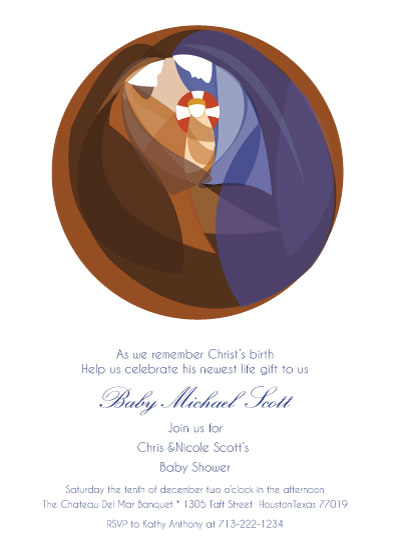 baby shower invitations - Holy Family  by Lana Boulos