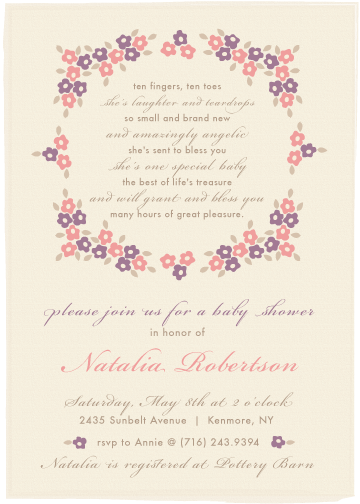 baby shower invitations - She's laughter and teardrops by Michelle Enderton