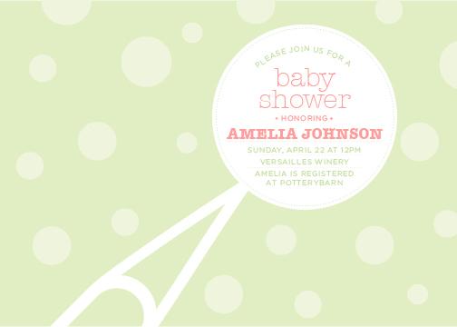 baby shower invitations - Baby Rattle by Katie Speelman