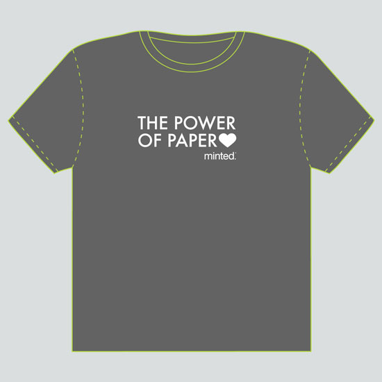minted t-shirt design - The Power of Paper by That Girl Studio