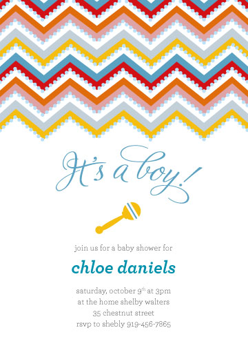 baby shower invitations - Chevron Love  by Simply Shira