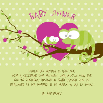 baby shower invitations - CHAMELEON CUTE by Paulina Valenzuela Rodriguez