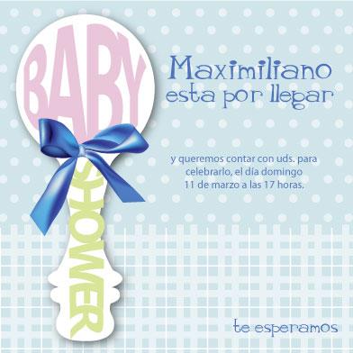 baby shower invitations - baby bell by Paulina Valenzuela Rodriguez