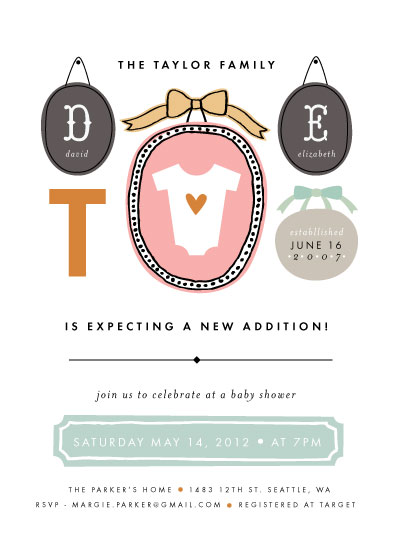baby shower invitations - Family Picture Wall by Alethea and Ruth