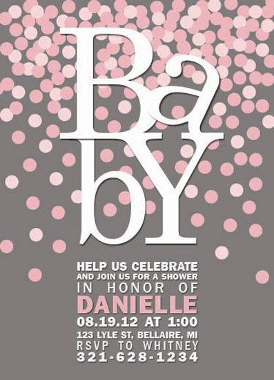 baby shower invitations - Confetti Celebration by Emily Ford