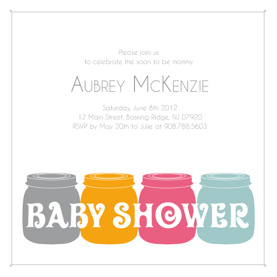 baby shower invitations - Baby  Food by Kristin Haley