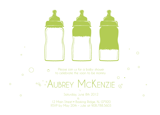 baby shower invitations - Bottles Up by Kristin Haley