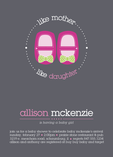 baby shower invitations - Love for Shoes by Beth Schneider