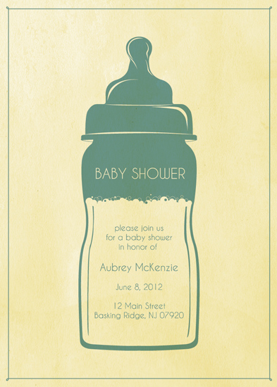 baby shower invitations - Bubbles by Kristin Haley