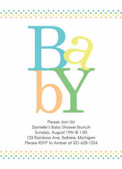 baby shower invitations - Polka Dot Row by Emily Ford