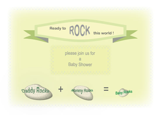 baby shower invitations - Ready to Rock by Kori Woodring