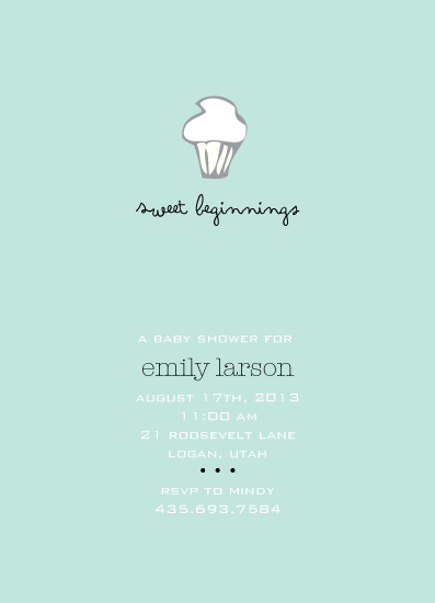 baby shower invitations - Sweet Beginnings by Tate Design