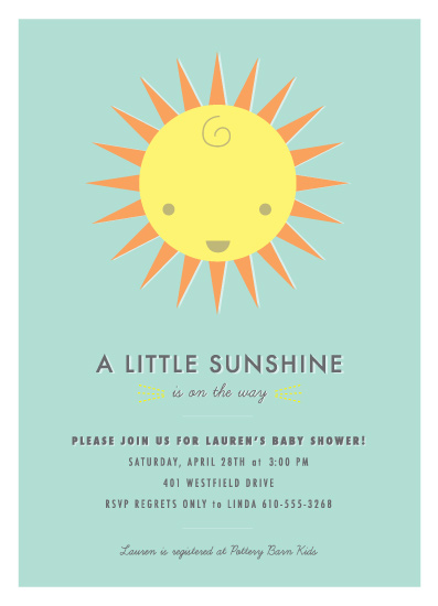 baby shower invitations - A Little Sunshine by Kristin Vosheski
