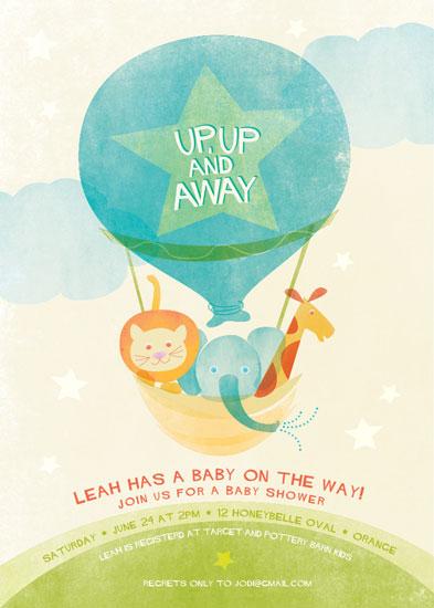 baby shower invitations - Cloud Nine by Robin Ott