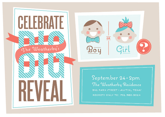 baby shower invitations - The Big Reveal by Cheer Up Press