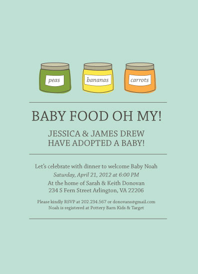 baby shower invitations - Baby Food Oh My by Rachel Buchholz