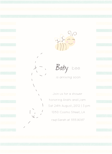 baby shower invitations - Baby bee by Giselle Zimmerman