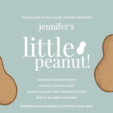 baby shower invitations - Little Peanut by Tracy Potter