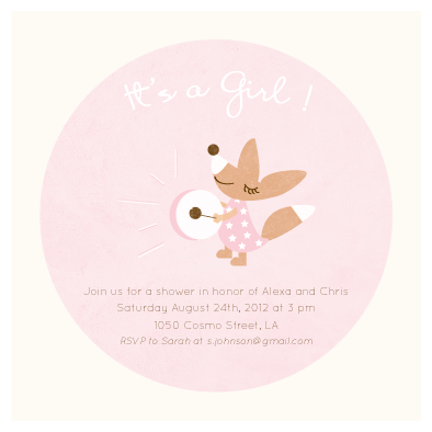 baby shower invitations - Beat the drum by Giselle Zimmerman