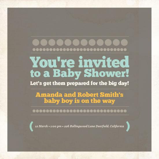 baby shower invitations - baby boy is on the way by Ana Maria Villanueva