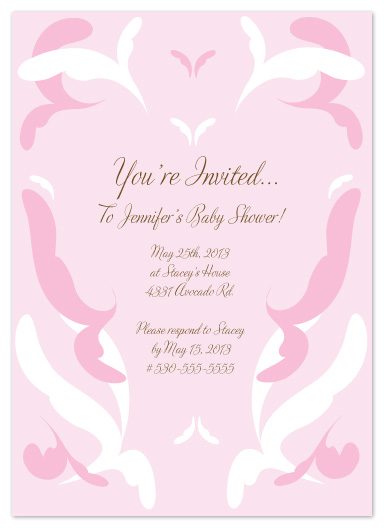 baby shower invitations - Floating Swirls by Denise Design