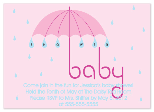 baby shower invitations - Shower Umbrella by Denise Design