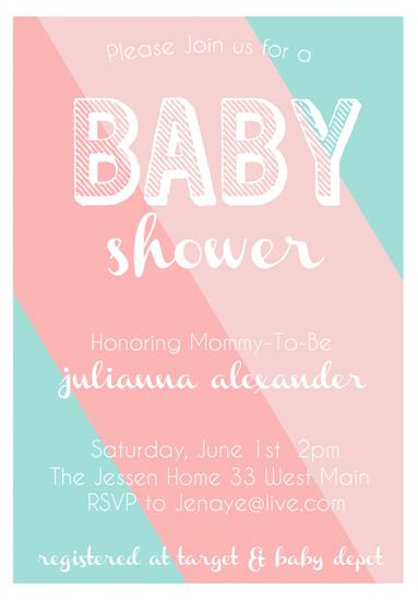 baby shower invitations - Gelato Stripes by Caili