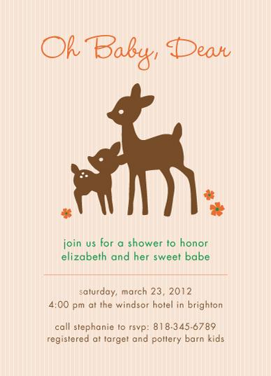 baby shower invitations - Oh Baby Dear by Lyndsay Johnson